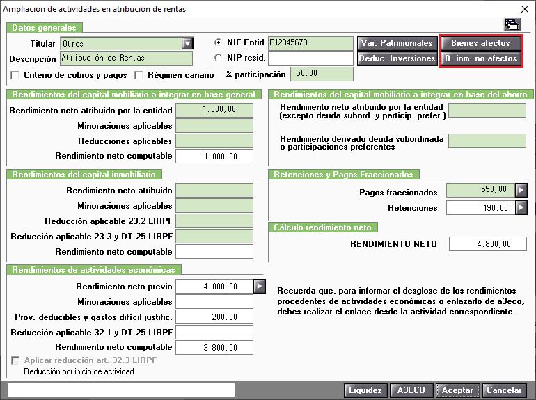 AR Ampliacion de actividades en atribucion de rentas Valor utilizado