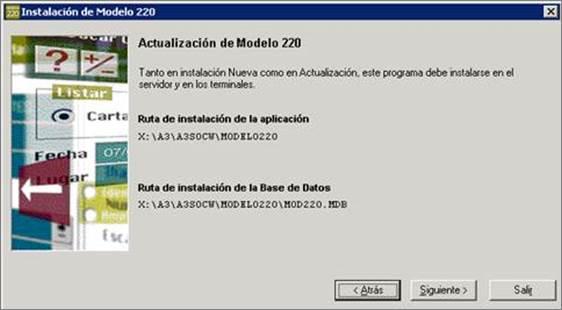 actualizacion modelo 220, rutas