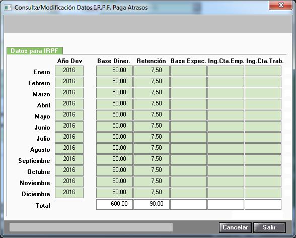 consulta modificacion datos irpf