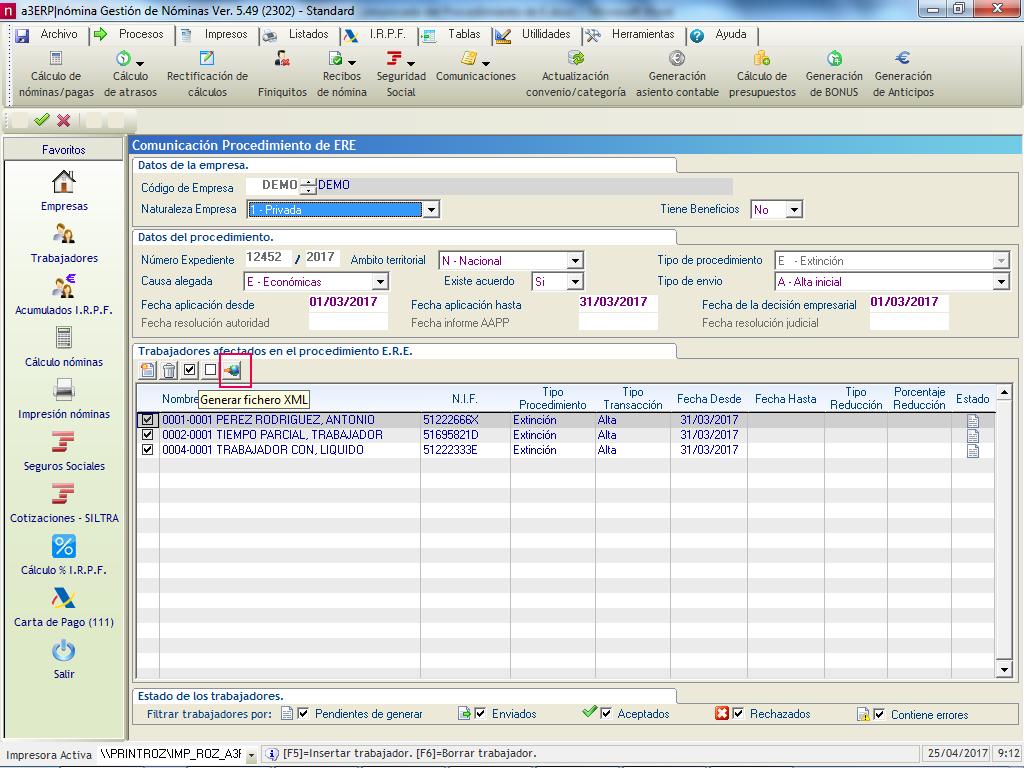 Generar fichero XML