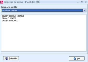 Plantillas SQL