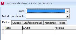 Cálculo de ratios