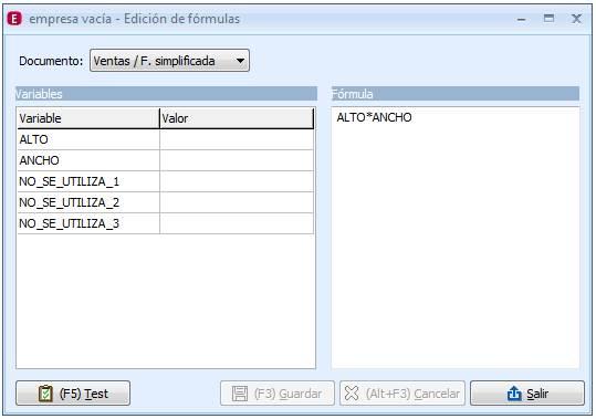 Edición de fórmulas