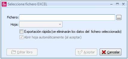 Seleccione fichero Excel