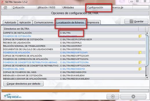 siltra localizacion ficheros