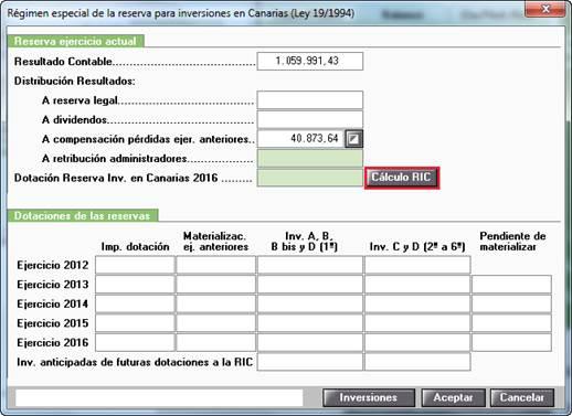 Régimen especial de la reserva para inversiones en Canarias (ley 19/1994)