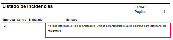 listado incidencias tipo empresario