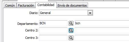 Datos generales / parametrización empresa / Valores por defecto / Contabilidad