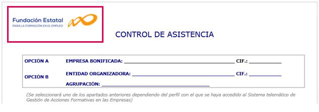 documento control asistencia