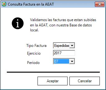 Consulta facturas en la AEAT