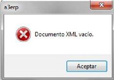 xml vacio