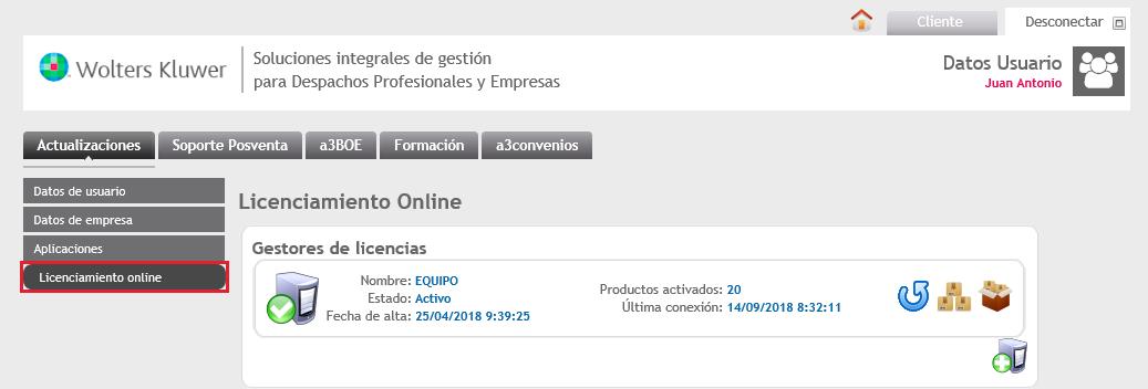 Licenciamiento Online