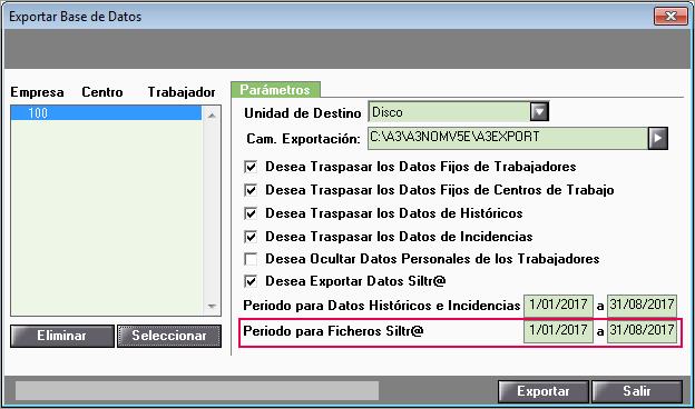 periodo ficheros SILTRA