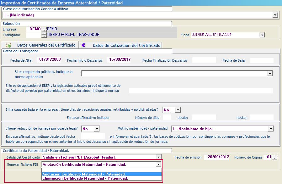 Anotacion o Eliminacion Certificado Maternidad Paternidad