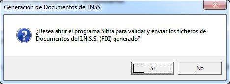 generacion documento INSS
