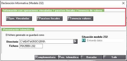 Declaración Informativa (Modelo 232)
