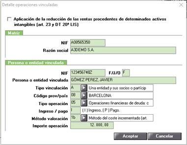 Declaración Informativa (Modelo 232).Listado Borrador