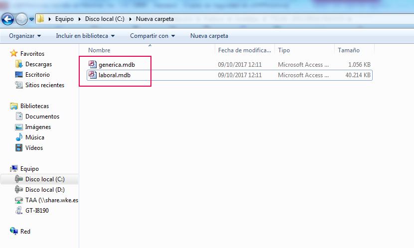 ficheros copia seguridad