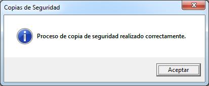 mensaje copia seguridad