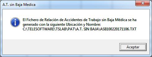 mensaje confirmar parte accidente sin baja