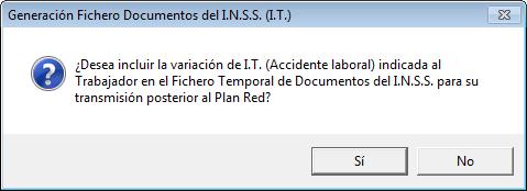 generacion fichero documentos INSS