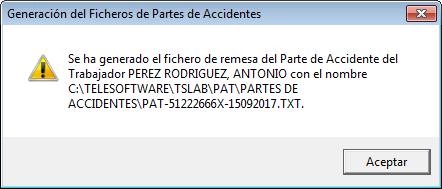 generacion fichero parte accidente