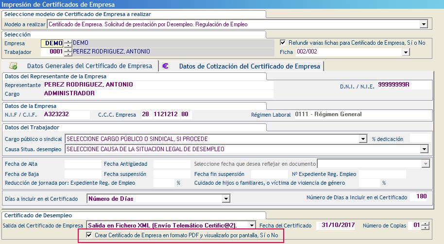 Crear Certificado Empresa formato PDF