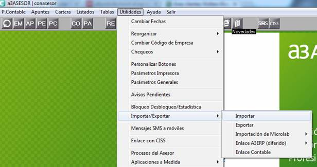 menu utilidades
