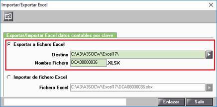 Exportar a Excel los estados contables por casilla (clave)