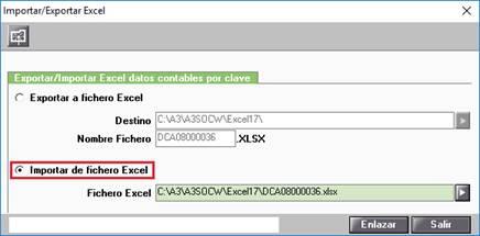Importar de Excel los estados contables por casilla (clave)
