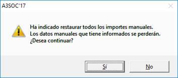 Mensaje de restaurar datos manuales
