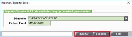 Importar/Exportar Excel