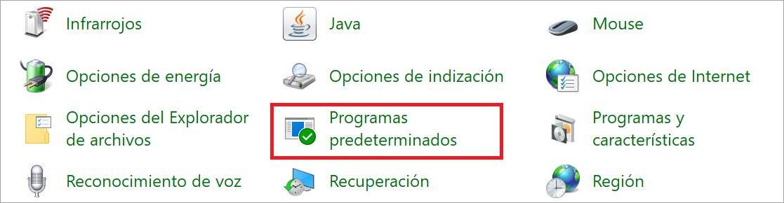 programas predeterminados