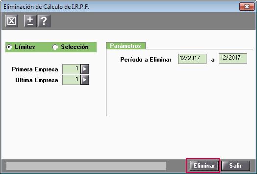eliminacion calculo irpf