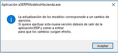actualizacion modelos hacienda