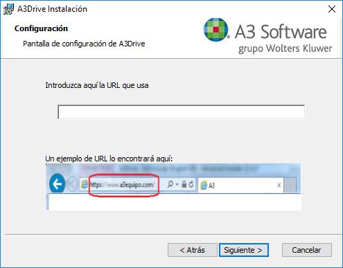 configuracion a3drive