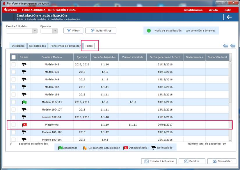 Programa validacion Hacienda plataforma