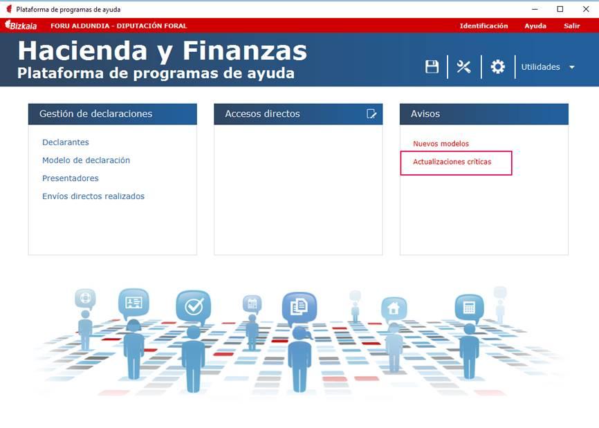 Programa validacion Hacienda actualizaciones criticas