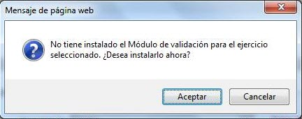 mensaje no tiene instalado modulo validacion