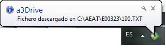 fichero descargado