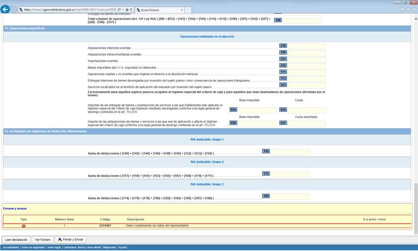 Visualizar errores al final del formulario