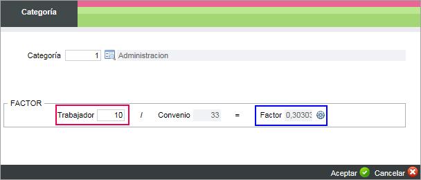 calculo factor