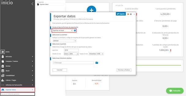 Exportar Datos de a3factura