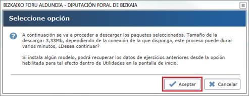 Aceptar instalación / actualización