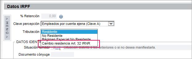 cambio residencia nw