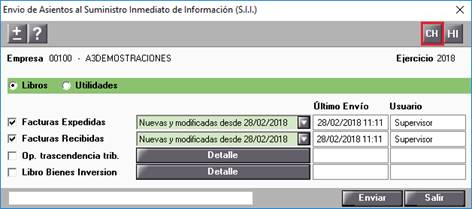 Chequeo del envío de Asientos al Suministro Inmediato de Información (SII)