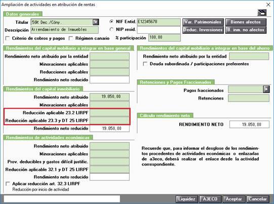 Ampliación de actividades en atribución de rentas