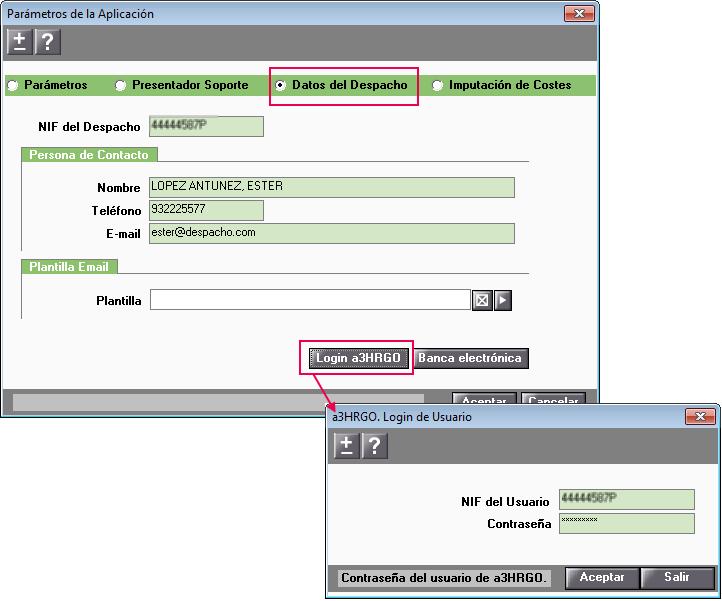 Datos del Despacho login a3HRgo