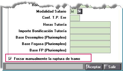 SILTRA Nuevo indicador para separar tramos manualmente