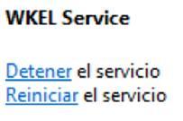 detener el servicio